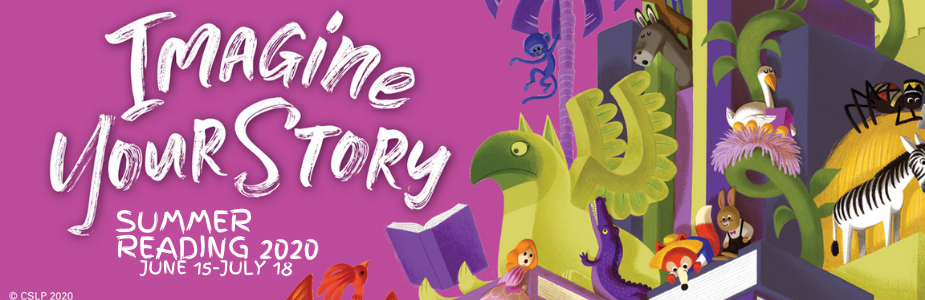 """Imagine Your Story"" Summer Reading Theme Banner"