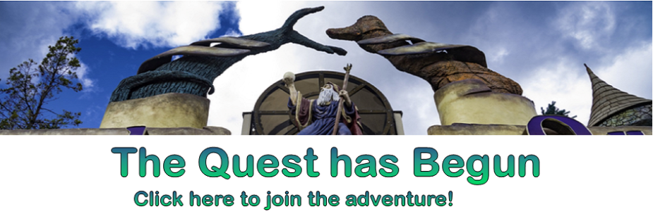 The quest has begun image with wizard